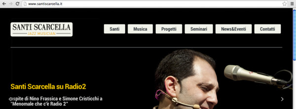 Website for Santi Scarcella | Jazz Musician